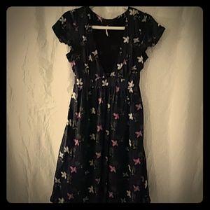 Silk Free People Flower Dress